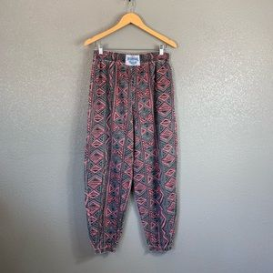 80's vintage international Baggyz printed pant L